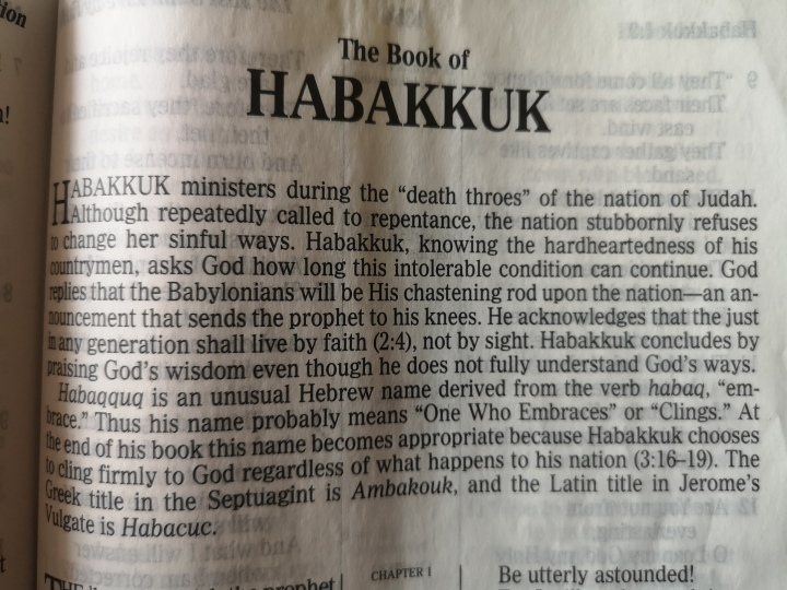 The Chapter of Habakkuk